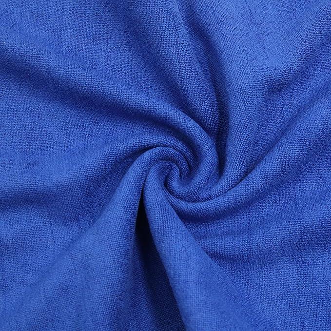 DealMux 2pcs 60cm x 30cm suave microfibra Inicio Alquiler de toallas Detallando paño de limpieza azul profundo: Amazon.es: Coche y moto
