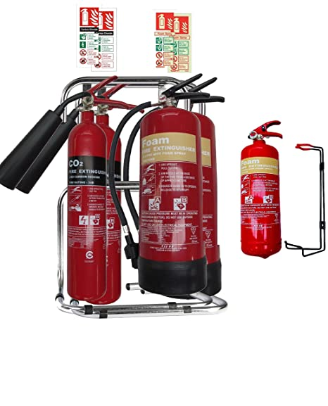 Medium/Large Office Fire Safety Pack. 2 X Fire Extinguisher set with ...