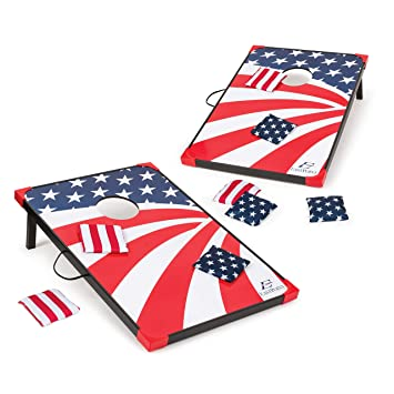 Stupendous Eastpoint Sports Cornhole Game Set Bean Bag Toss Mdf 2 W X 3 L Built In Storage Convenient Carry Handles And 8 Premium Bean Bags Uwap Interior Chair Design Uwaporg