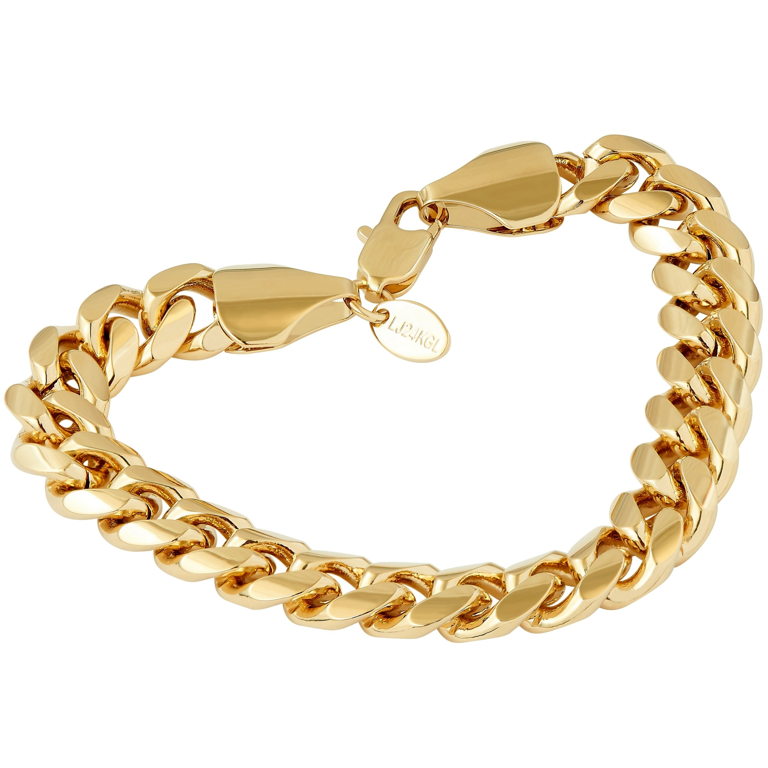 Lifetime Jewelry Cuban Link Bracelet 11MM, Round, 24K Gold Overlay Premium Fashion Jewelry, Guaranteed Life, 8 inches by Lifetime Jewelry (Image #8)