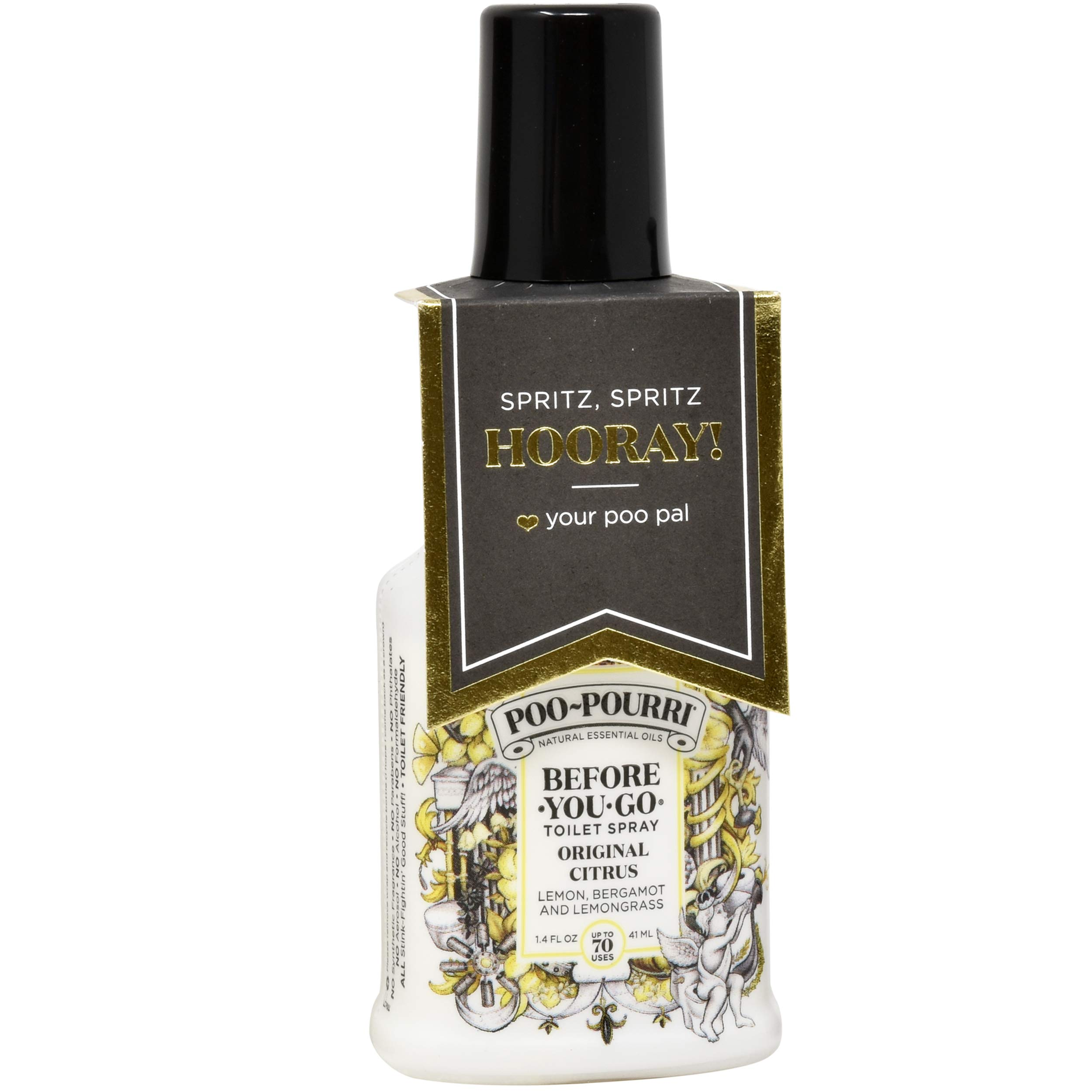 Poo-Pourri in A Pinch Pack Toilet Spray Gift Set, 5 Pack 10 mL, 1.4 Ounce Original Bottle and Bottle Tag Included by Poo-Pourri (Image #3)