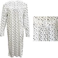 Zmart 100% Cotton Women Nightie Night Gown Pajamas Pyjamas Winter Sleepwear PJs Dress