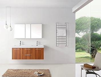 Virtu Usa Midori 54 Inch Double Sink Bathroom Vanity Set In Plum W