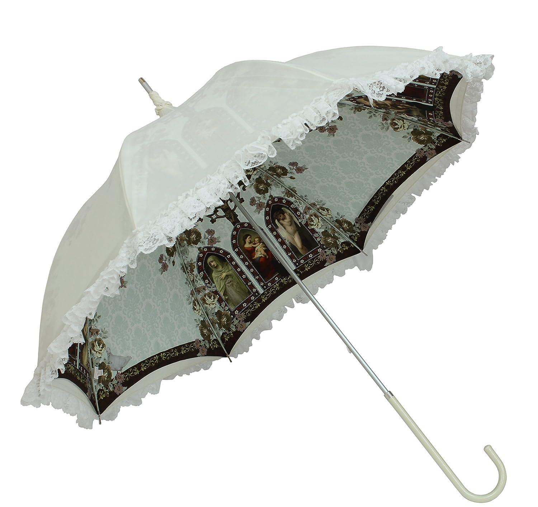 ルミエーブル マリス ド ランジュ 全2色 長傘 手開き 日傘/晴雨兼用 ベージュ 8本骨 55cm UVカット グラスファイバー骨 0102-15005-c12 B01EA8BHO0ベージュ