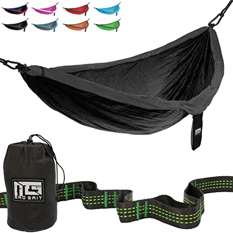 best deal  double parachute camping hammock with straps  u0026 carabiners by mad grit amazon     best deal  double parachute camping hammock with      rh   amazon
