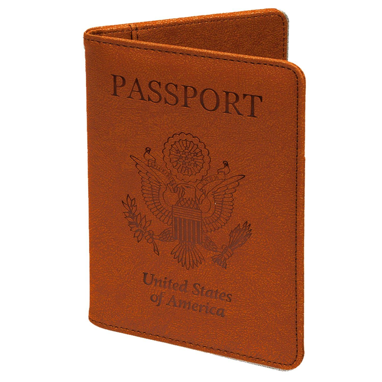 0c80ccbf627b PASBUY P7086 PU Leather Passport Holder Case Protective RFID Blocking  Wallet Case (Aquamarine)