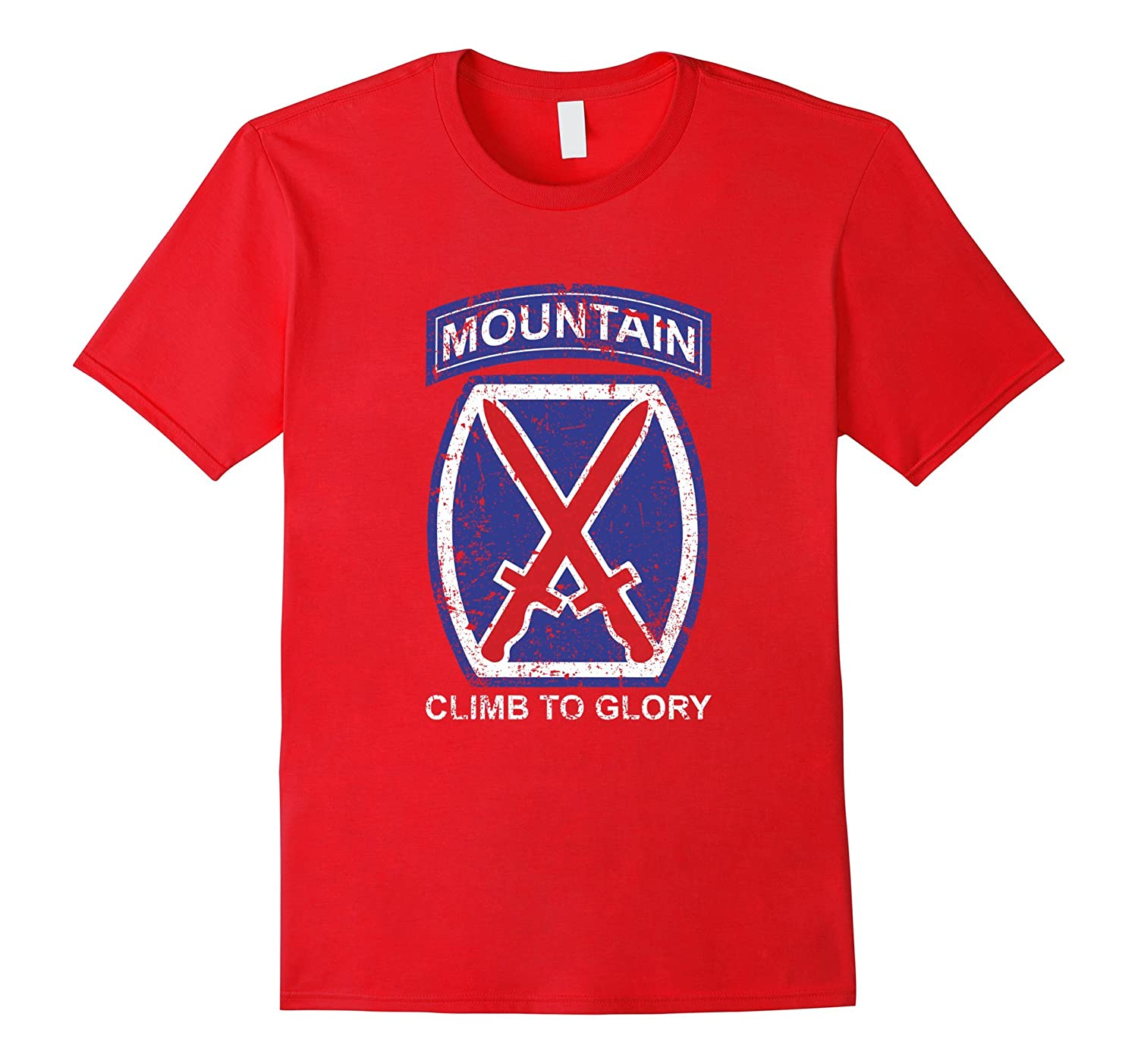 10th Mountain Division T Shirt Climb To Glory - 20324-PL