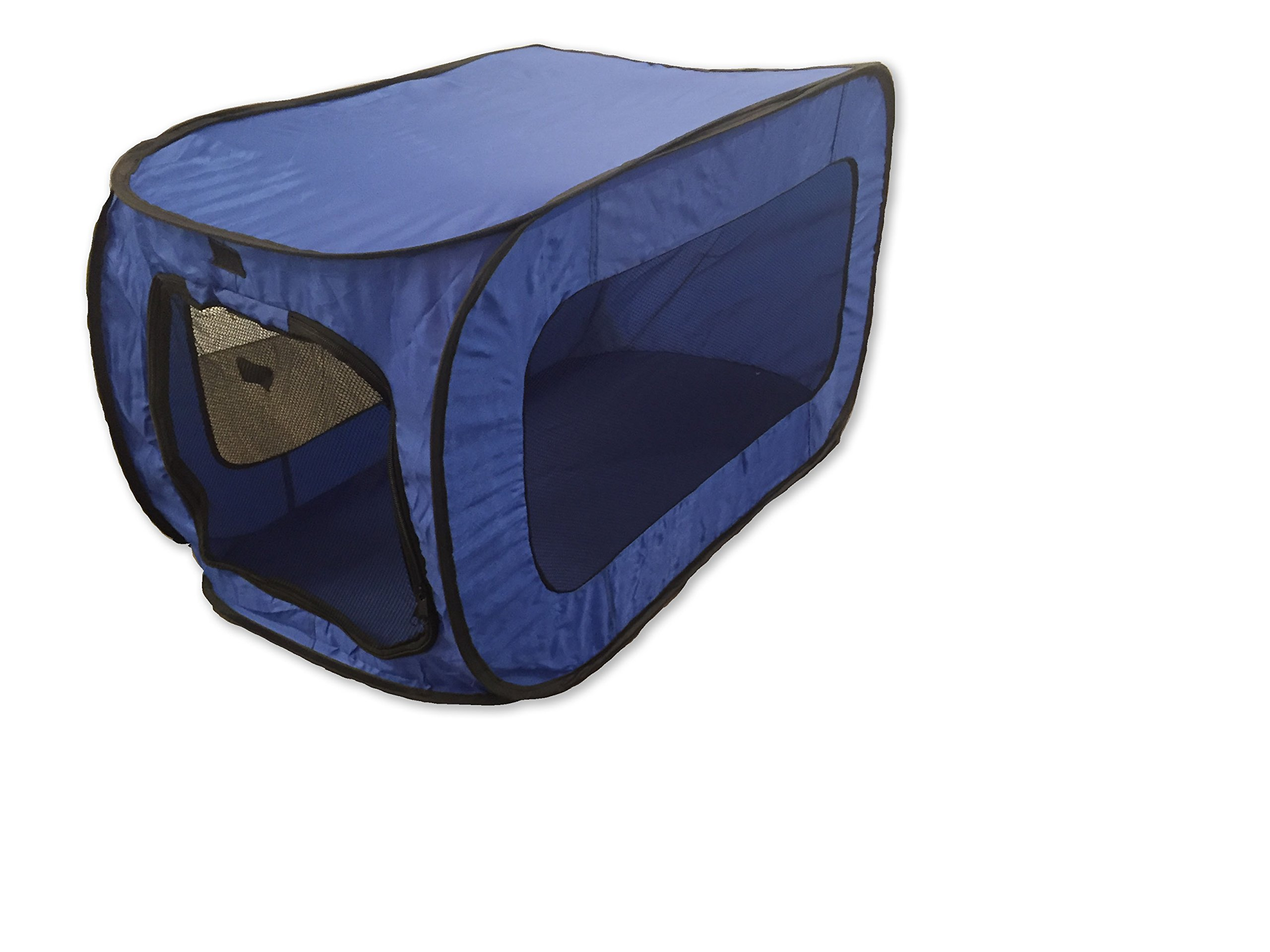 Beatrice Home Fashions SOLPPK00BLU POP UP PET KENNEL, Blue