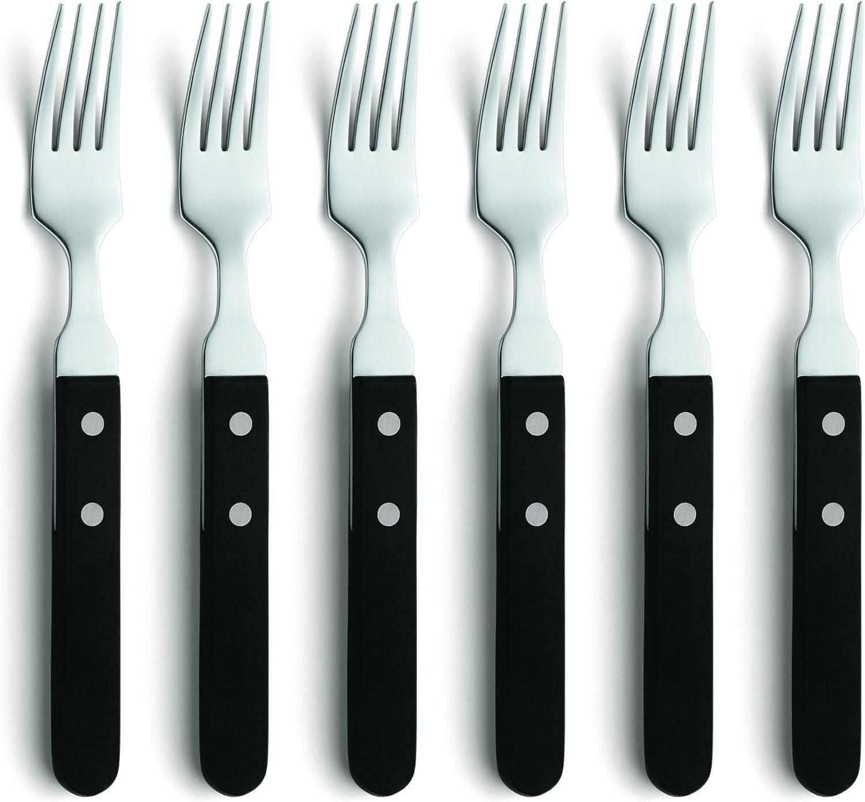 Amefa 700000BC02AE6 Men/ül/öffel Steak Pizzabesteck 18//0 Edelstahl rostfrei poliert 6-teilig