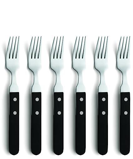 Amefa 700000BC01AG6 - Juego de Tenedores de Carne (6 Unidades, Acero Inoxidable 18/0)