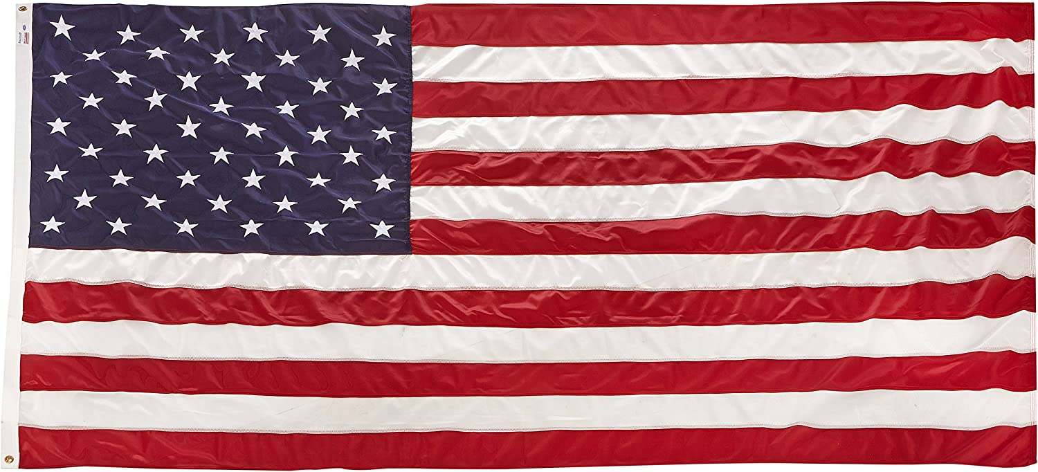 American US Flag 5x8 ft Sewn Stars /& Stripes Outdoor Nylon Valley Forge USA MADE
