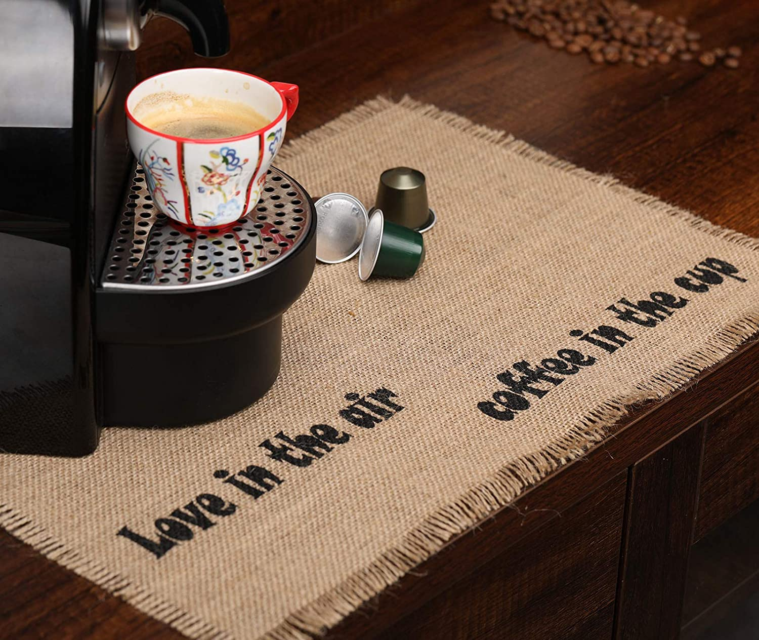 Keurig Coffee Mat coffee bar placemat Farmhouse coffee mat Birthday Gift for Her, Coffee because adulting is hard placemat coffee mat