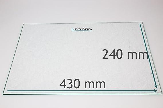 531 mm x 261 mm K/ühlschrank Einlegeboden//Glasplatte//Gem/üsefach Strukturglas 4 mm dick Direkt vom Glasereifachbetrieb!!!