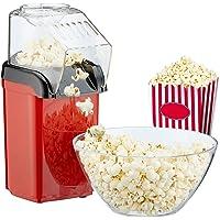 Popcornmachine popcornmaker voor thuis, krachtige vetvrije snelle bereiding met hete lucht, 1200 W, incl. maatbeker