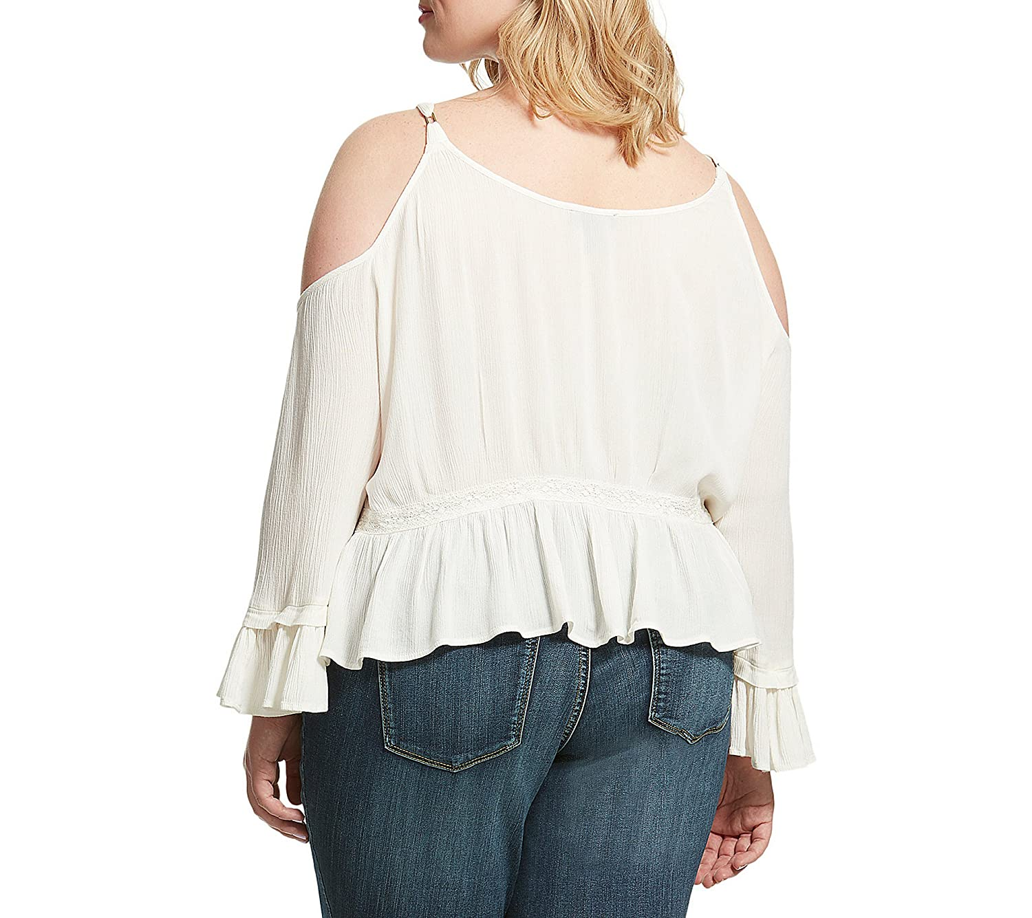 b98aaf544af4dc Jessica Simpson Plus Size Cold-Shoulder Peasant Top 2X at Amazon Women s  Clothing store