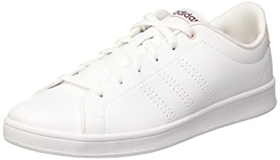 adidas Damen Advantage Clean QT Fitnessschuhe  42 2/3 EUElfenbein (Ftwr White/Mystery Ruby F17)