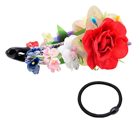 c7aef366a Buy Monalisa Enterprise Banana clip(clutcher) multi-coloured.With this clip,  12 hair bands(ponytail holder) ABSOLUTELY FREE. (Combo of 13, ME_081)  Online at ...