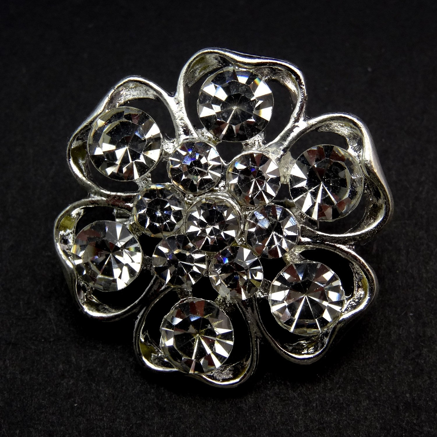 Tooky 12PCS mix set Crystal Button spille sciarpe fibbia Floriated spilla pin strass corpetto bouquet kit lotto all ingrosso