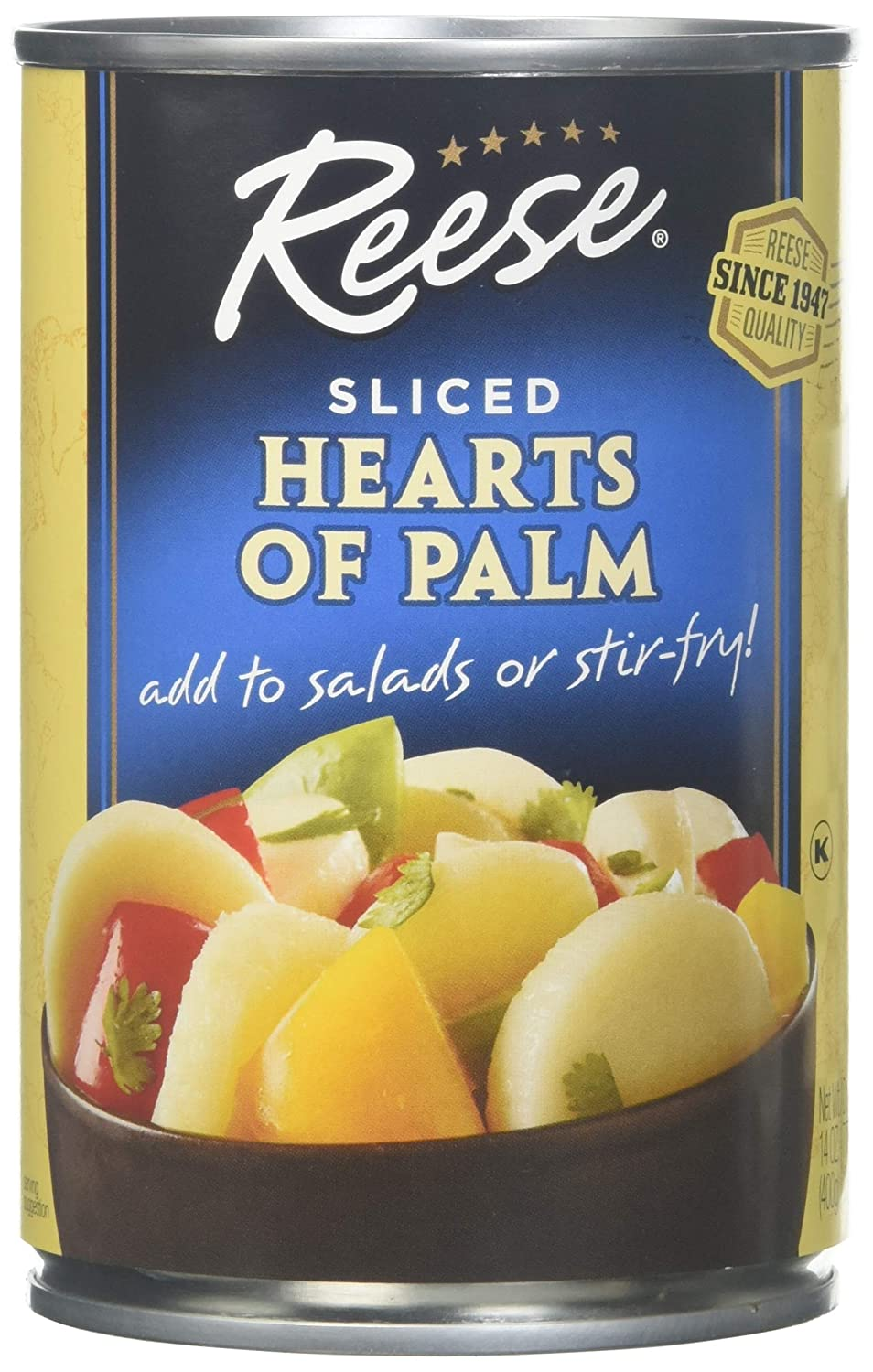 B00VLSWK5I Reese Hearts of Palm Slices, 14-Ounces (Pack of 6) 81kOmPBL62L