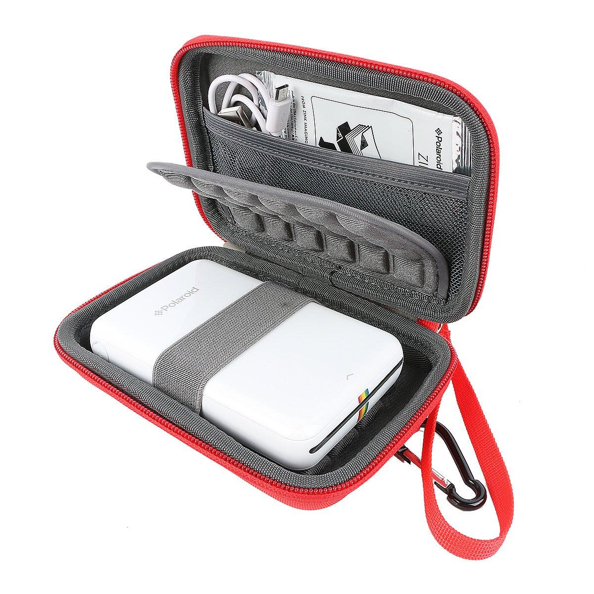 Khanka Portatile Custodia da viaggio Memorizzazione per Polaroid ZIP Stampante Portatile Zero Ink Printing - Rosso Teckone-BaoLILai-53