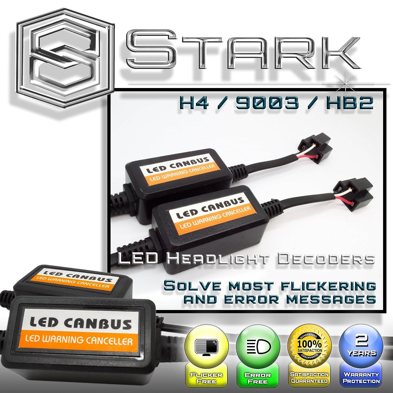 PAIR LED Conversion Kit Headlight Canbus Error Free Anti Flickering Resistor Decoder 9006 HB4