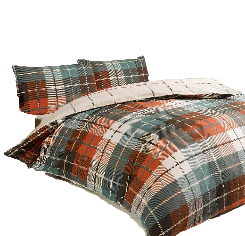 Bedding Heaven Reversible Lomond Terracotta Flannelette Duvet