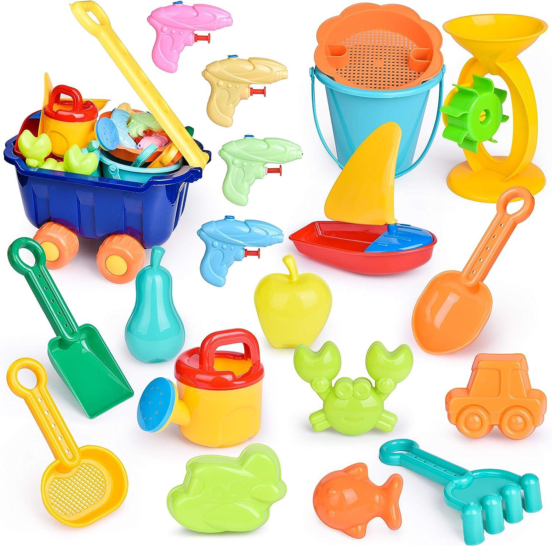 B bangcool 9PCS Beach Sand Toy Set Creative Sand Toy Summer Beach Toy Fun Beach Toy ForKids