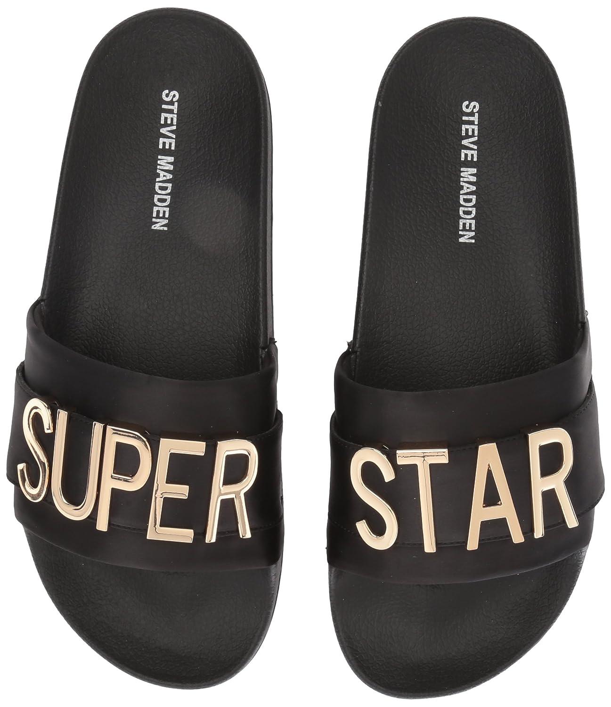 Steve Madden Women's Word Slide Sandal B074WC5SL4 11 B(M) US|Black/Multi
