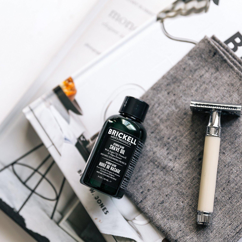 Brickell Mens Products - Aceite de Afeitado Híbrido para Barba - Aceite Pre-Afeitado Natural y Orgánico para Hombres - 59 ml: Amazon.es: Belleza