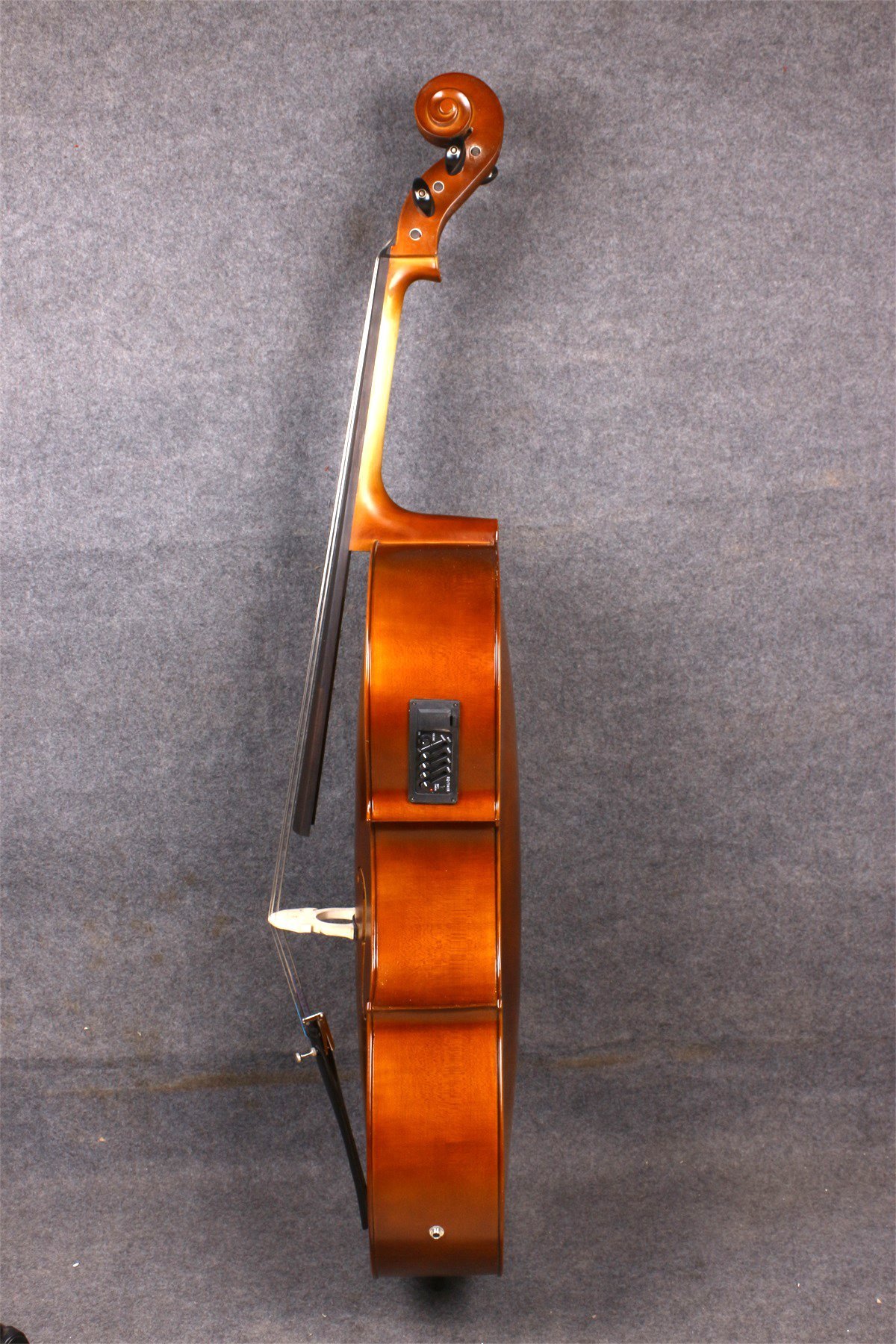 Yinfente Electric Acoustic Cello 4/4 Solid Maple Spruce wood Ebony Fittings Sweet Sound With Cello Bag Bow (Brown) by yinfente (Image #4)