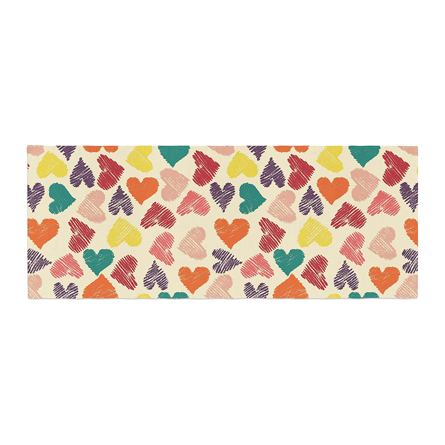 Kess InHouse Louise Machado Little Hearts Bed Runner