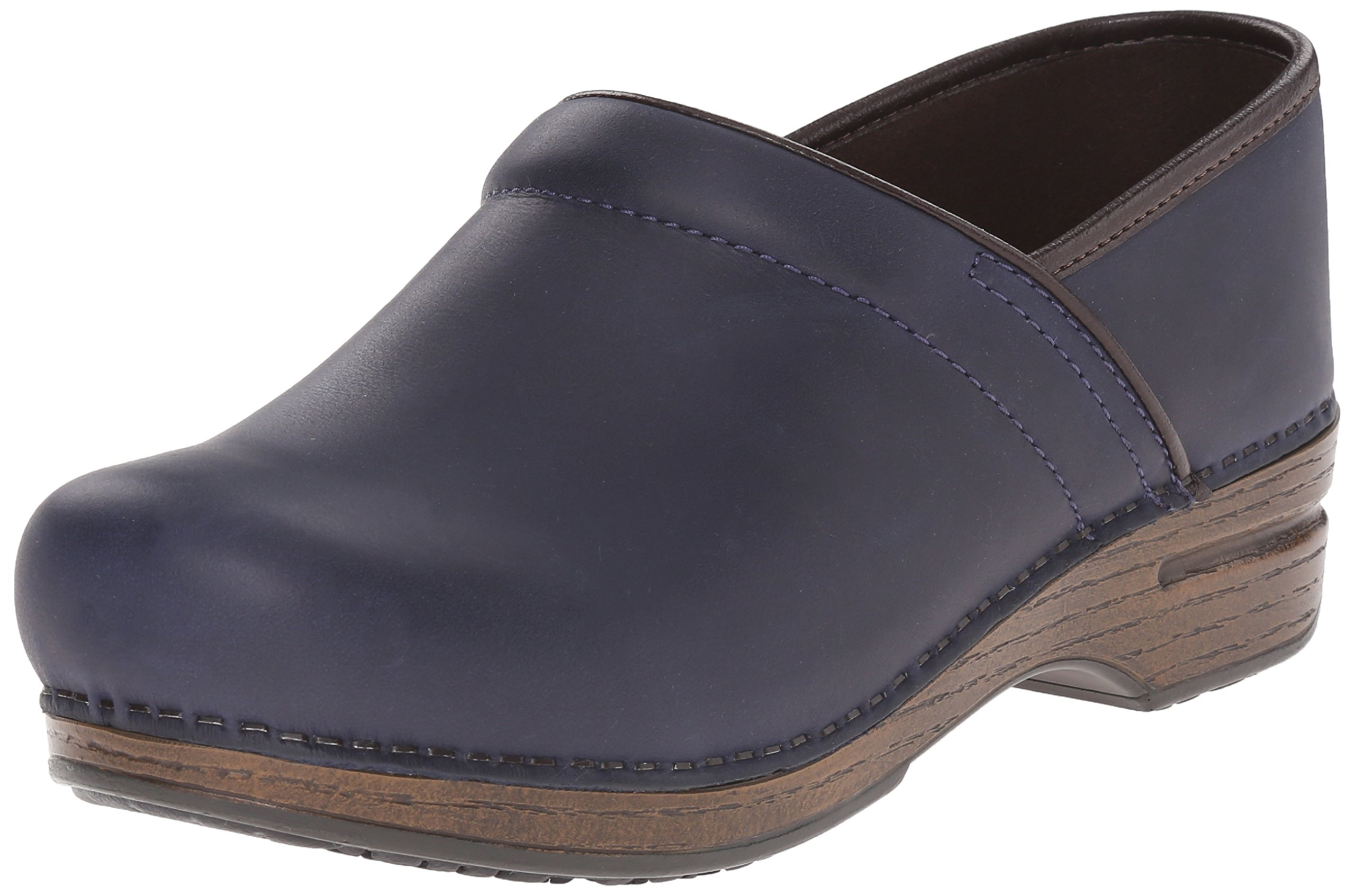 Dansko Women's Pro XP Navy Oiled Mule, 38 EU/7.5-8 M US