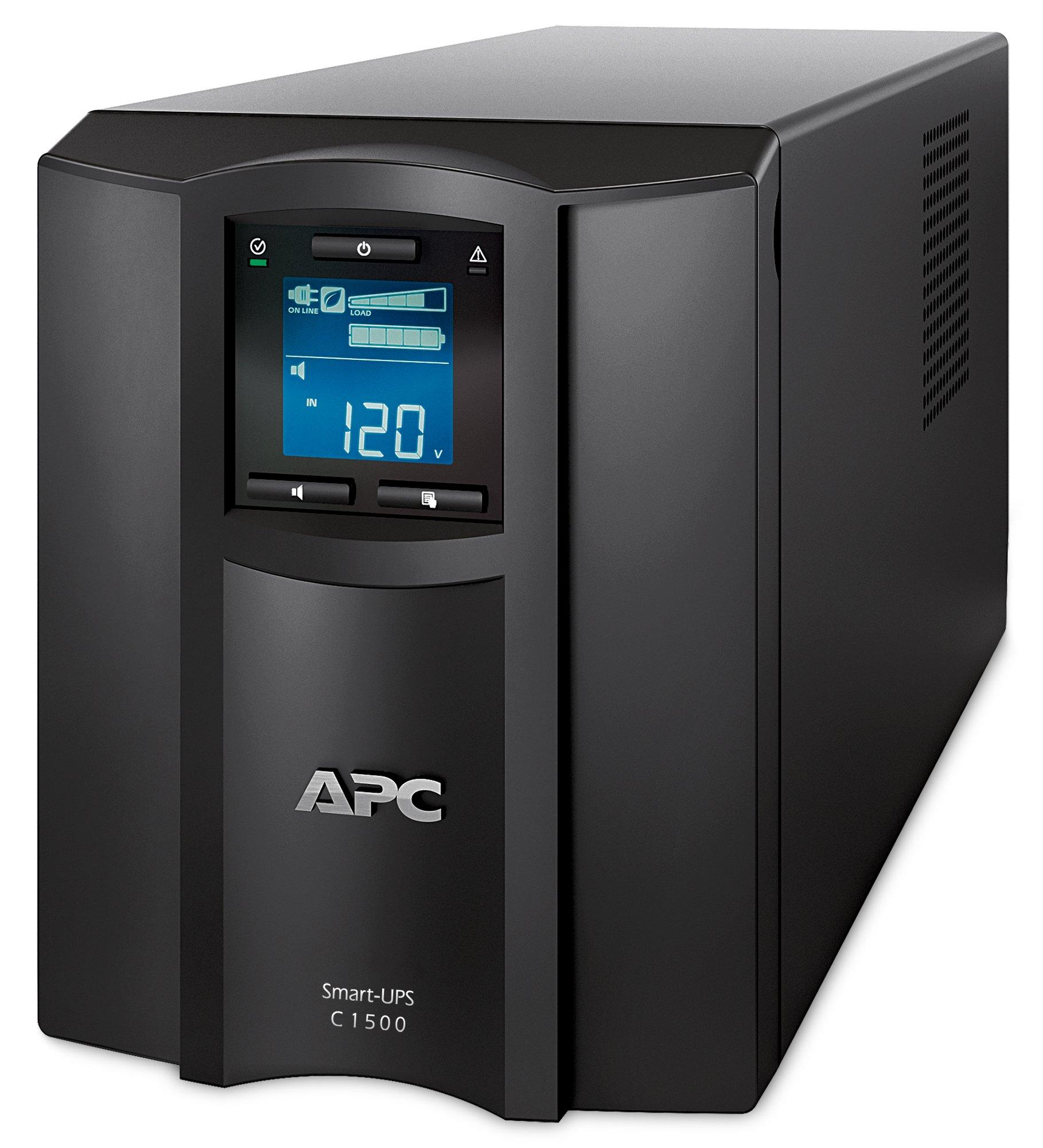 APC Smart-UPS with SmartConnect Remote Monitoring App, 1500VA UPS Sine Wave Battery Backup & Surge Protection (SMC1500C)