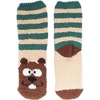 Women's 1 Pair Super Soft Cute Fuzzy Cozy Warm Animal Face Indoor Outdoor Cabin Crew Home Socks