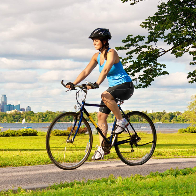 VEOBIKE Pantaloni da Ciclismo per Donna Uomo con Imbottitura 3D Pantaloncini da Ciclismo Quick Dry Elastici Traspiranti Pantaloncini da Equitazione MTB