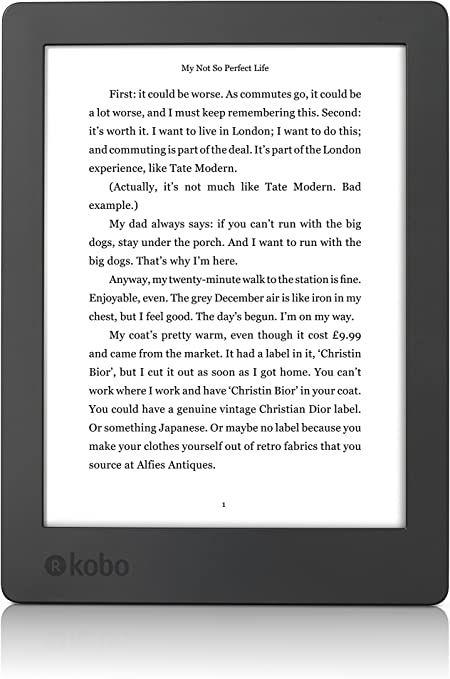 E-BOOK KOBO AURA H20 EDITION 2 N867-KU-BK-K-EP.: Kobo: Amazon.es ...