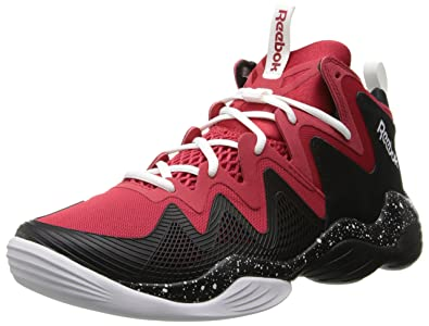 Reebok Men's Kamikaze IV Basketball Shoe,Excellent RedBlackWhite,7 M