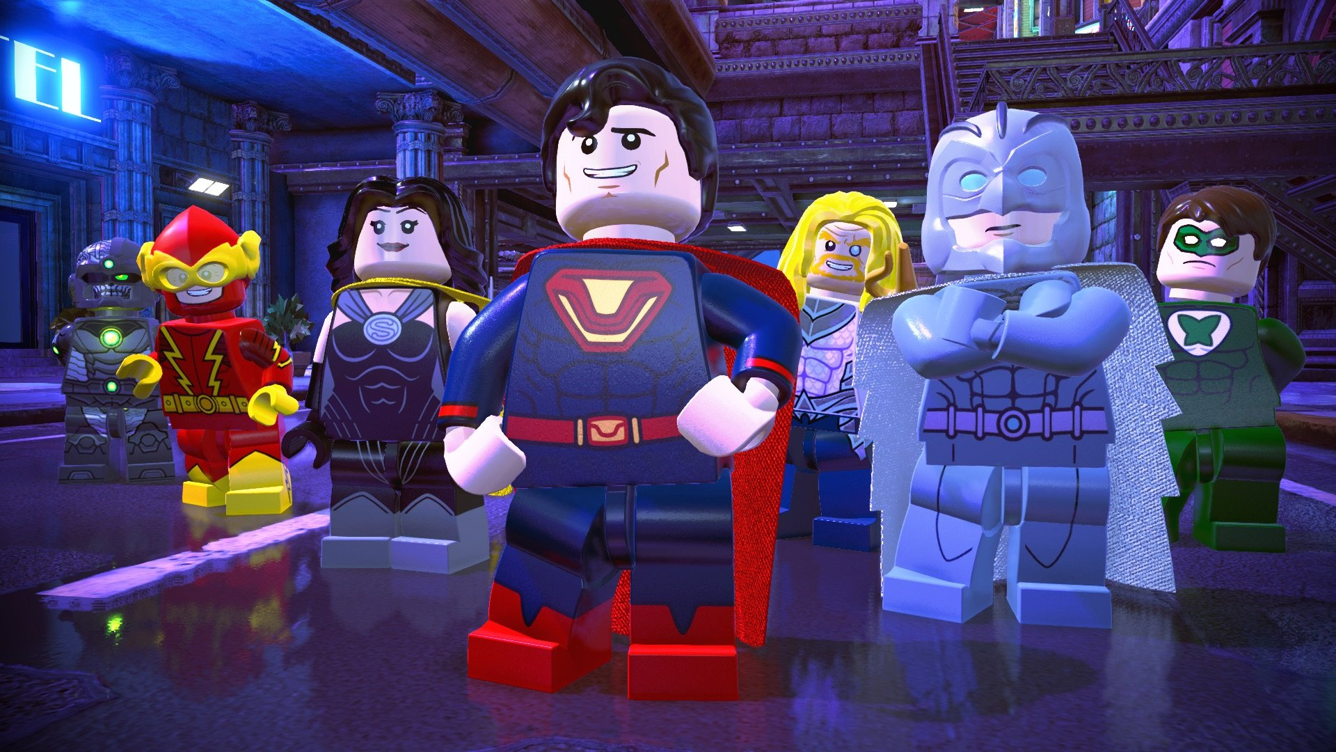 jogo ps4 lego dc super villains deluxe edition