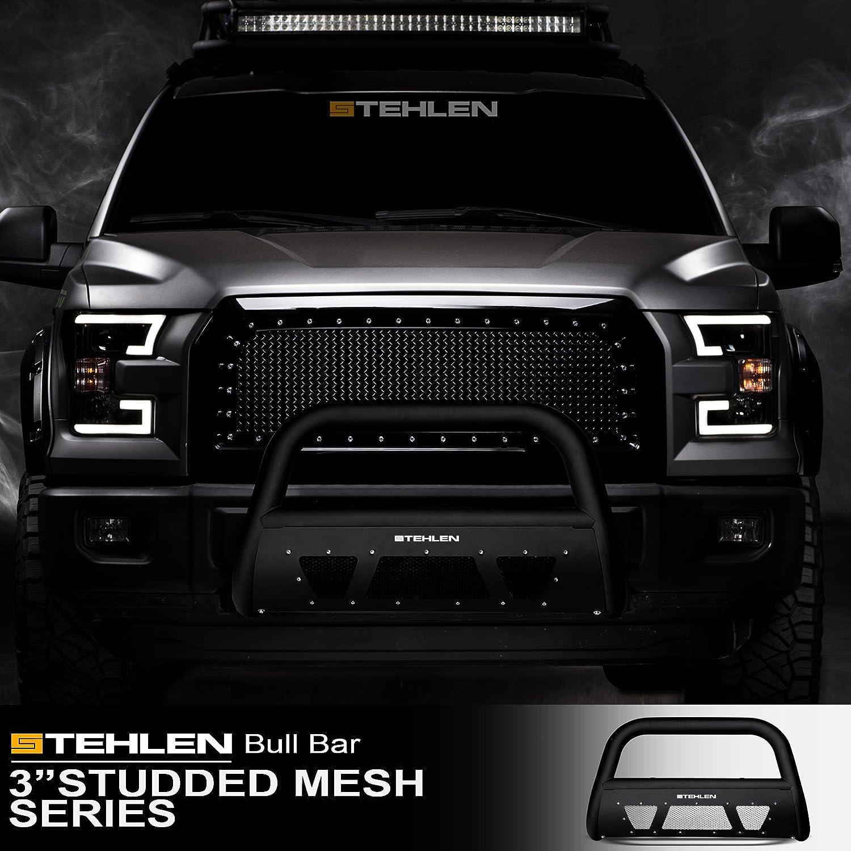 Stehlen Designer amazon com stehlen 714937183070 3 studded mesh series bull bar