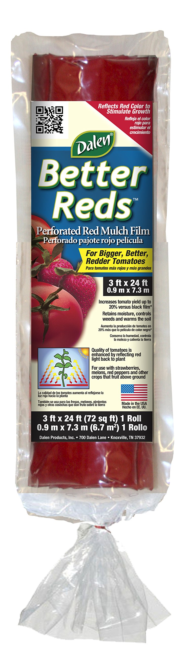 Dalen Gardeneer By Better Reds Mulch Film for Tomatoes 3' x 24' (BR12)