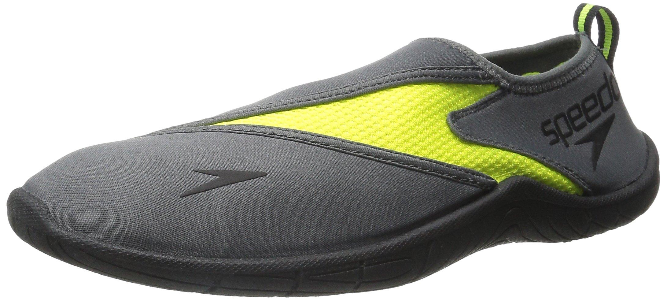 Speedo Men's Surfwalker 3.0 Water Shoe, Grey/Yellow, 10 M US