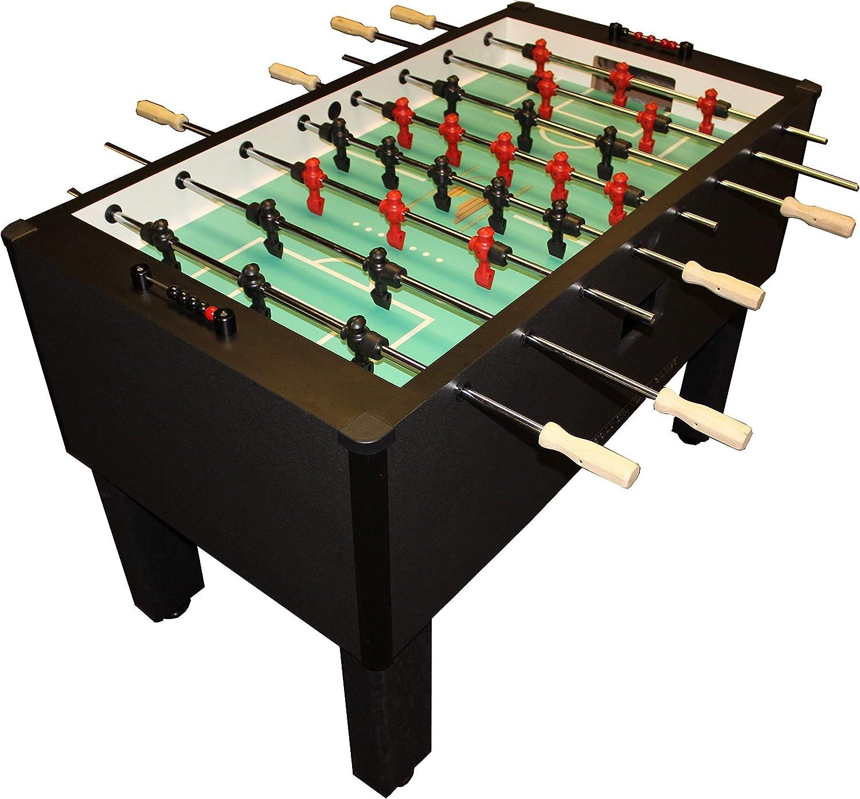 Estándar de Oro juegos casa Pro futbolín (carbón vegetal (QPQ rods-wood de acero inoxidable asas)): Amazon.es: Deportes y aire libre