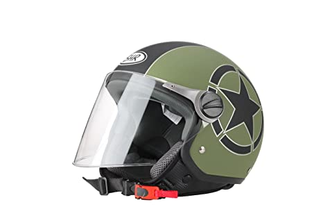 Amazon.es: BHR 93843 Demi-Jet Estrella 710 Casco de Moto, Color Blanco, Talla 57/58 (M)