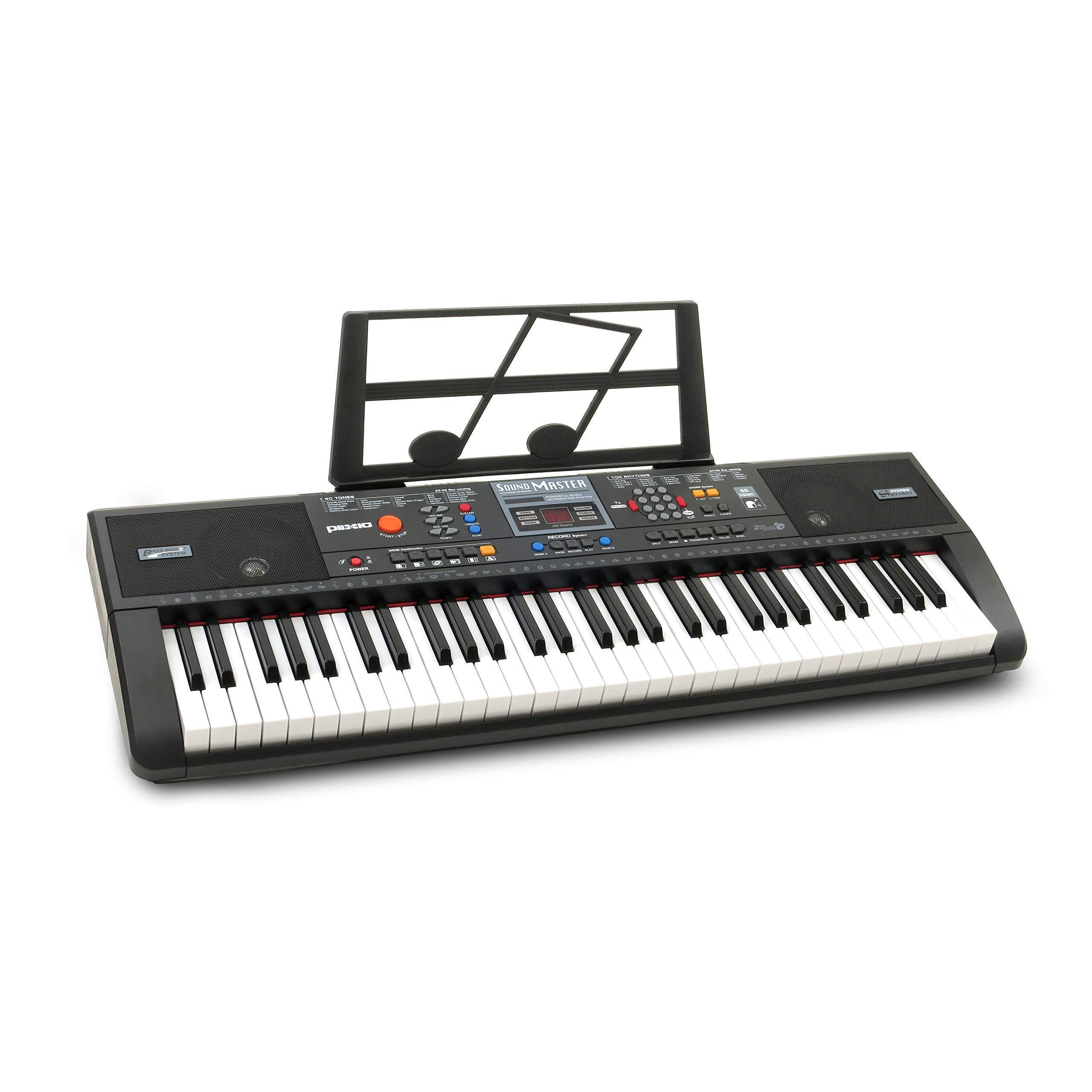 Plixio 61-Key Digital Electric Piano Keyboard & Sheet Music Stand - Portable Electronic Keyboard for Beginners (Kids & Adults) (Renewed) by Plixio (Image #1)