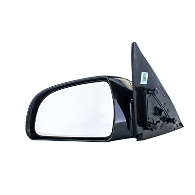 Driver Side Mirror for (2006 2007 2008 2009 2010) Hyundai Sonata Unpainted Heated Power Operated Right Outside Rear View Replacement Door Mirror - Parts Link #: HY1320149: Automotive