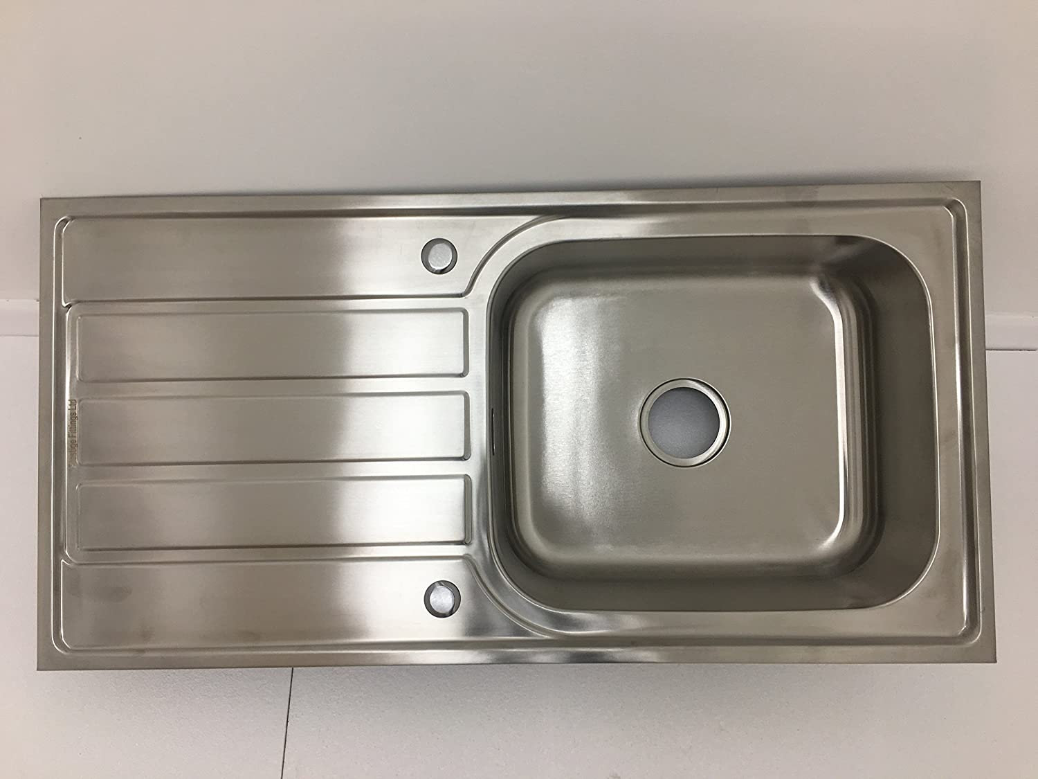 Single Bowl with Drainer top mounting/Inset Stainless Steel Kitchen Sink Prestige Fittings
