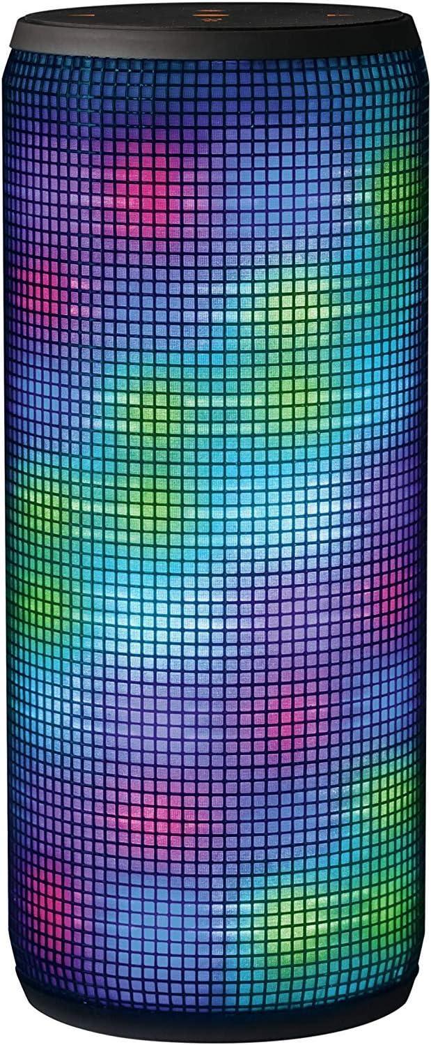 Trust Urban Dixxo - Altavoz Portátil de 20 W para Dispositivos con Bluetooth (con Iluminación de Colores), Negro/Multicolor