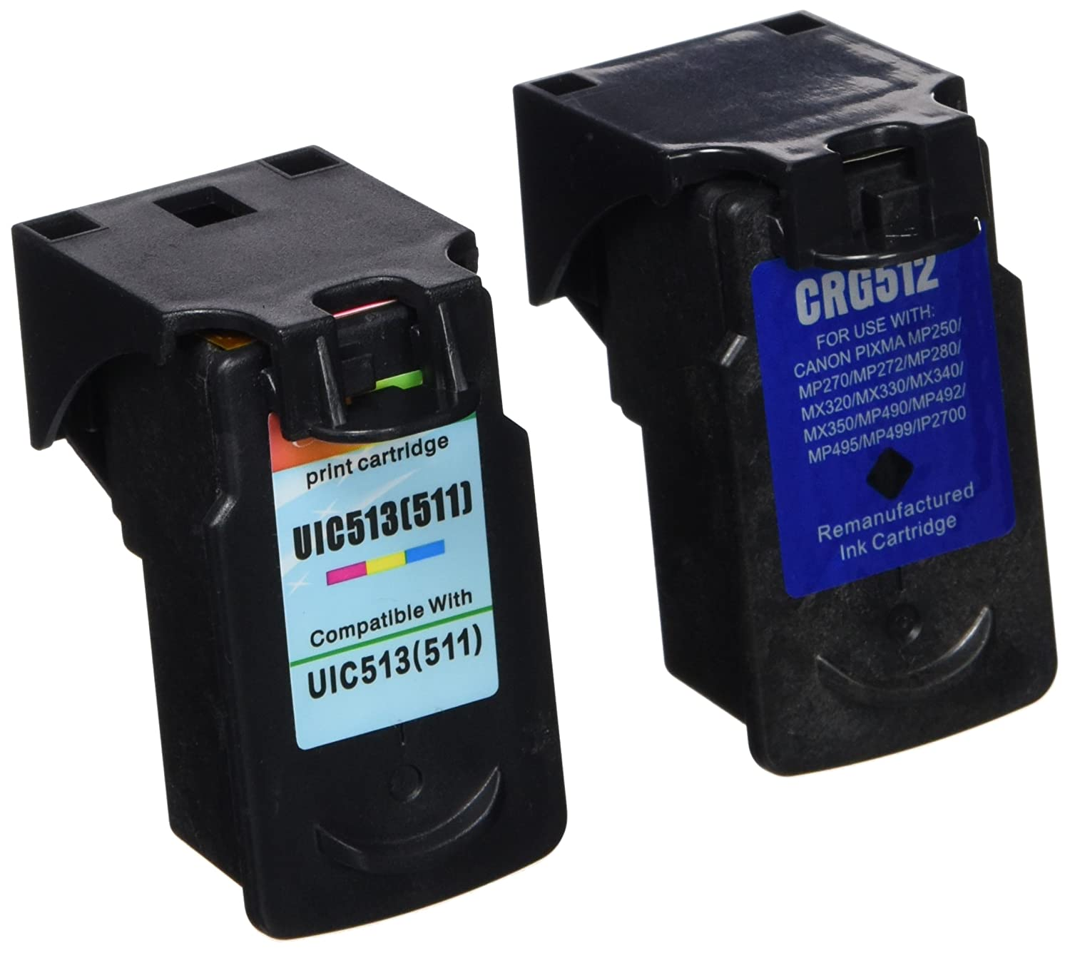 Prestige Cartridge 2 x PG-510 Cartuchos CL-511 Cartuchos PG-510 de tinta, color y negro efb148