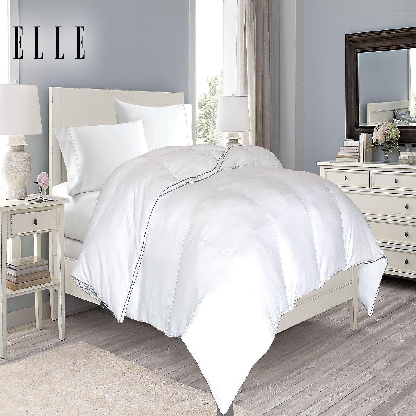 Amazon.com: Elle 1200 Thread Count Cotton Rich Solid Down ...