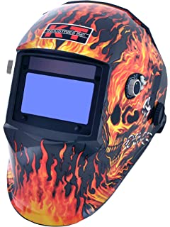 K-T Industries 4-1071 Gen 1 Flaming Skull Auto Darkening Welding Helmet